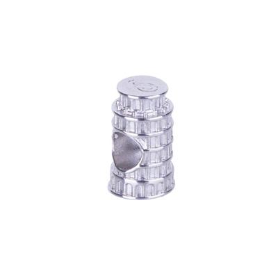 1800331 beloque torre de pisa italia bilho folheados sabrina joias berloque folheado ouro branco rodio