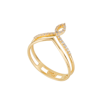 1910620 anel curvas romanticas design super delicado cravejado zirconia branca joia folheada ouro 18k brilho folheados sabrina joias