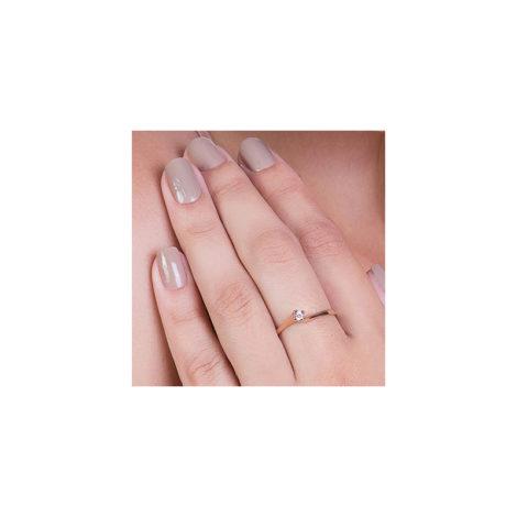 510516 anel solitario fino e delicado marca rommanel loja brilho folheados foto do anel no dedo da modelo