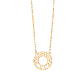 531774 colar corrente cadeado com pingente fixo escrito super vovó e 3 coracoes vazados joia folheada ouro rommanel brilho folheados colecao super mae