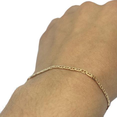 550428 pulseira unissex fininha com 19 cm comprimento brilho folheados joia ouro 18k rommanel