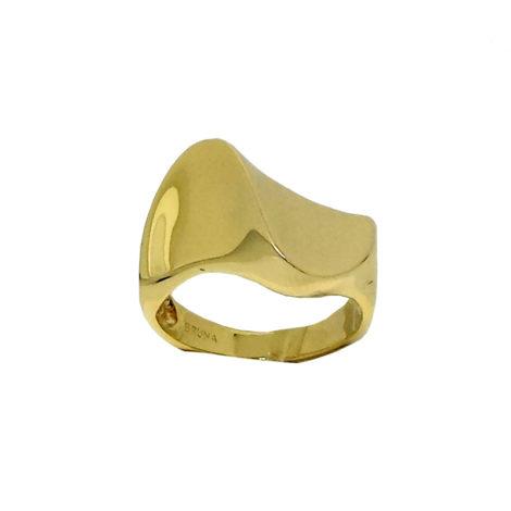 AB1727 anel ondulado super brilhoso joia folheada brilho folheados bruna semijoias