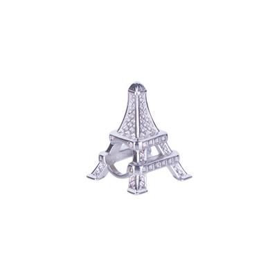 Berloque Torre Eiffel Paris Folheado em Ródio