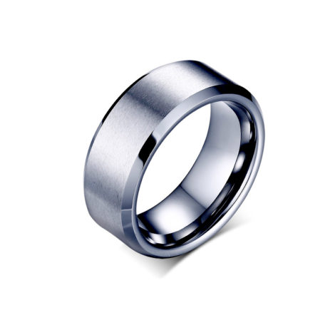 anel aliana larga lisa masculina material tungstenio banho grafite brilho folheados