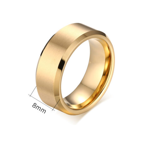 anel alianca masculina larga material tungstenio joia folheada ouro 18k brilho folheados