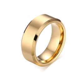 anel largo material tungstenio aco inox joia folheada ouro brilho folheados