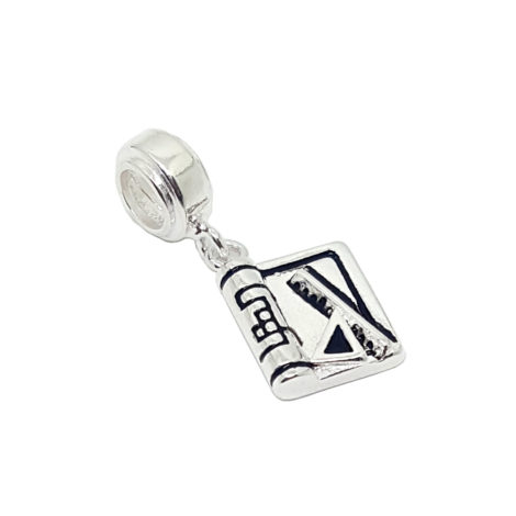 berloque arquetetura prata 925 prancheta regua brilho folheados