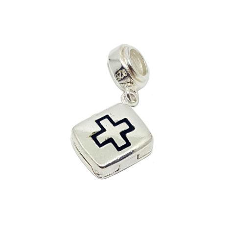 berloque medicina maleta medica prata 925 joia brilho folheados