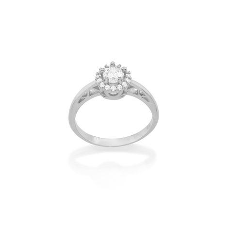 110717 anel solitario delicado com aro contendo detalhes coracao vazado joia folheado ouro branco rommanel dia das maes brilho folheados