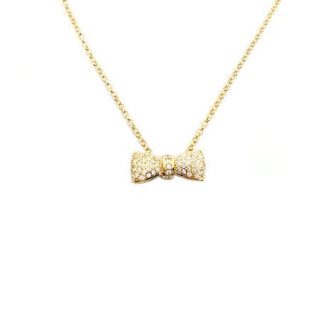 1900102 corrente elos com pingente delicado em zirconias branca joia folheada banhada ouro dourado brilho folheados sabrina joias