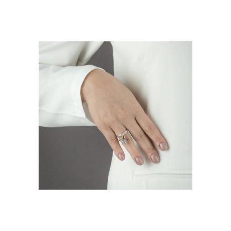 1910064 anel aro fino com pingente de menino fino pendurado anel cravejado com zirconias folheado a ouro 18k sabrina joias brilho folheados modelo