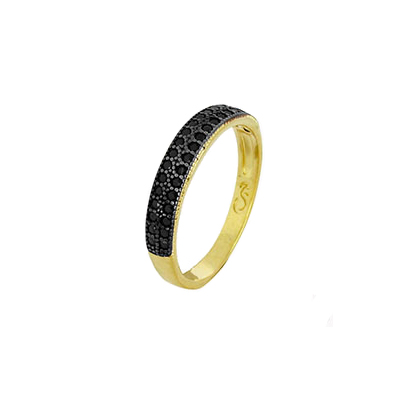 1910493 anel 2 fileiras zirconia perta joia folheada ouro dourado sabrina joias brilho folheados