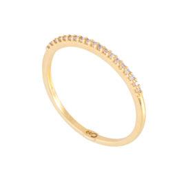 1910534 anel aparador com zirconias brancas joia folheada em ouro amarelo 18k brilho folheados sabrina joias
