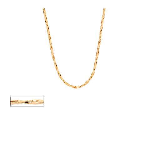 530444 corrente feminina fio torcido diamantado joia rommanel brilho folheados