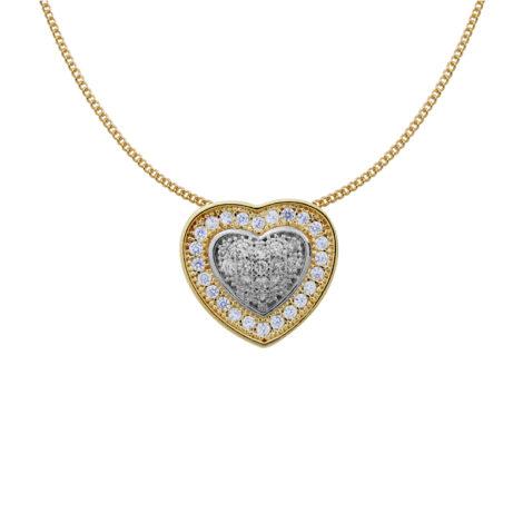 G0217 colar lindo pingente coracao cravejado micro zirconias joia folheada da marca bruna semjoias brilho folheados