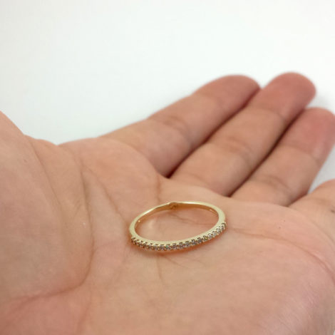 anel aparador de alianca zirconia branca joia folheada sabrina joias brilho folheados 1910534