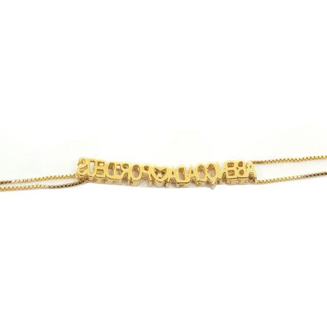 pulseira com corrente abencoada por deus joia folheada ouro amarelo 18k brilho folheados