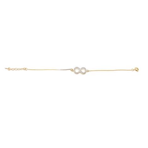 pulseira simbolo do infinito feminina brilho folheados