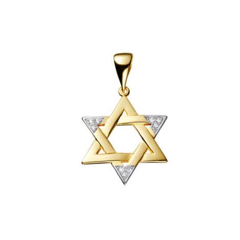 1805200 pingente estrela de davi grande metal macicio com zirconias folheado ouro 18k dourado sabrina joias brilho folheados