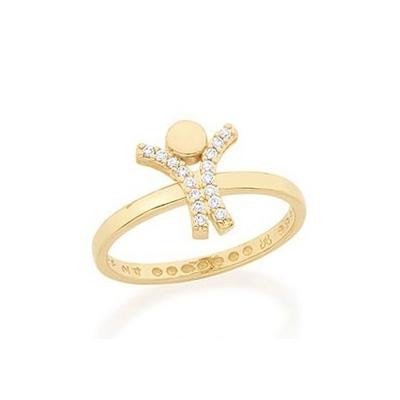 512388 anel aro fino estilo skinny ring com peca menino acoplado cravejado 16 zirconias linha mamae bebe joia folheada rommanel brilho folheados