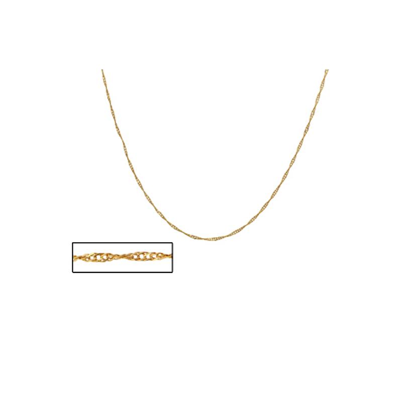Brilho folheados Corrente feminina fio torcido 42 cm folheado a ouro 18k a6f9d98e7b