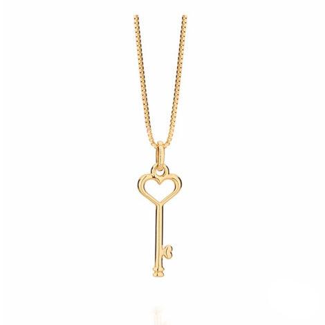 541949 531310 colar feminino corrente veneziana chave coracao joia folheada ouro 18k brilho folheados rommanel