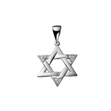 R1805200 pingente estrela de davi grande metal macicio com zirconias folheado rodio prateado sabrina joias brilho folheados