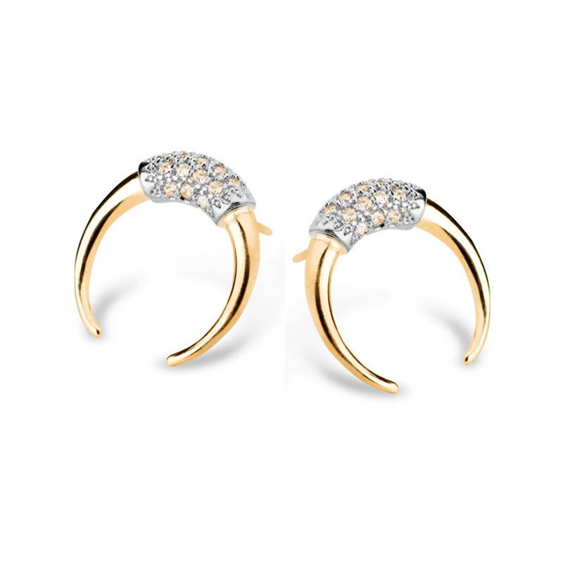 88451e1a6a5b6 Brinco argola exótica pequeno folheado em ouro 18k marca Sabrina Joias