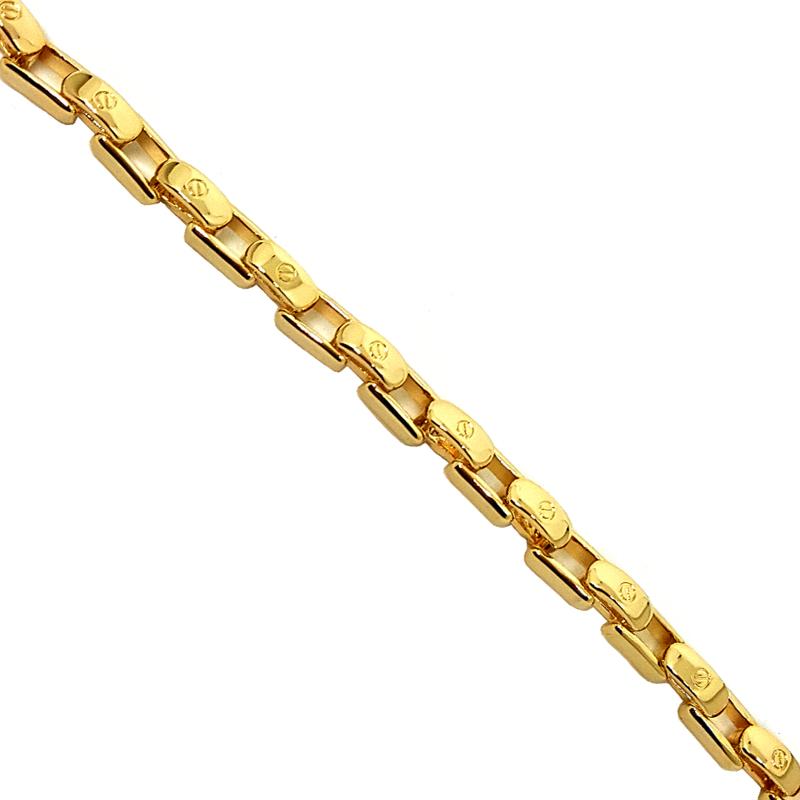 41558467839 Pulseira masculina elos cartier joia folheada em ouro 18k