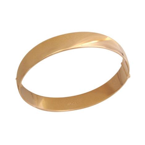 BP0201 bracelete largo liso joia folheada em ouro 18k bruna semijoias brilho folheados