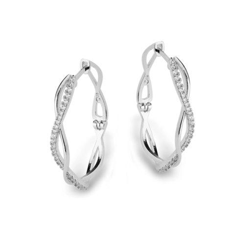 R1689948 brinco argola media oval trancada cravejada com zirconias joia folheado rodio rhodium branco brilho folheados revendedora oficial da marca sabrina joias