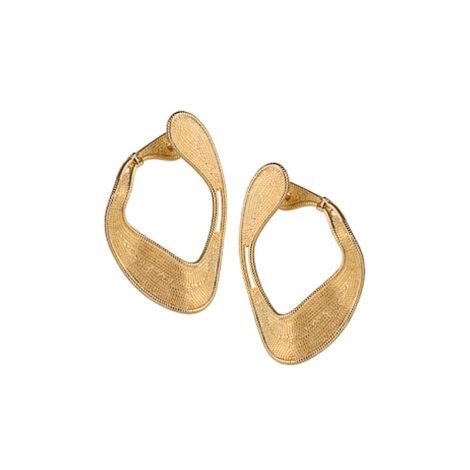 1689575 brinco bipartido design moderno organico folheado em ouro dourado 18k sabrina joias brilho folheados revendedora oficial