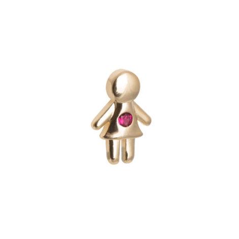 1800485 mini pingente menina filha pedra rosa mini pingente para usar dentro da capsula joia folheada ouro dourado brilho folheados revendedora ofical da sabrina joias