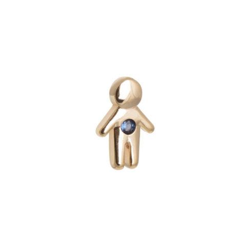 1800486 mini pingente menino filho pedra azul mini pingente para usar dentro da capsula joia folheada ouro dourado brilho folheados revendedora ofical da sabrina joia