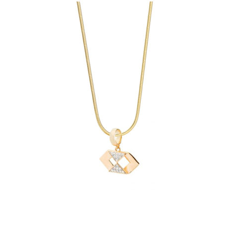 1800566 243e45 colar profissao administracao zirconias brancas joia folheada ouro dourado 18k sabrina joias brilho folheados