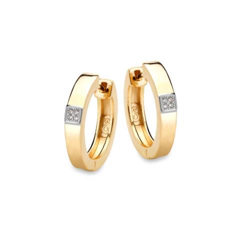 P6529000 brinco de prata folheado em ouro amarelo 18k joia folheada sabrina joias brilho folheados