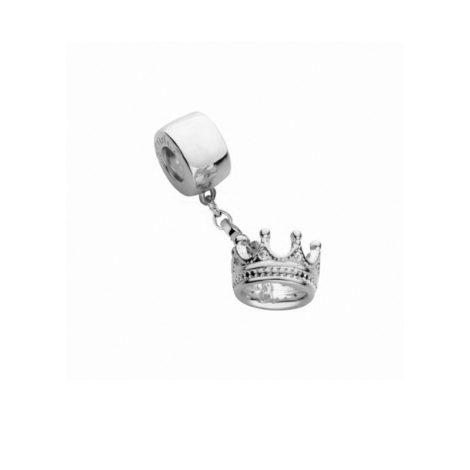 R1800206 berloque coroa com pedras de zirconias branca joia folheada ouro branco rodio brilho folheados sabrina joias