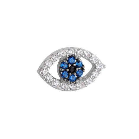 R1800453 mini pingente olho grego para usar dentro da capsula peca cravejada zirconias coloridas joia folheada ouro branco rodio sabrina joias brilho folheados