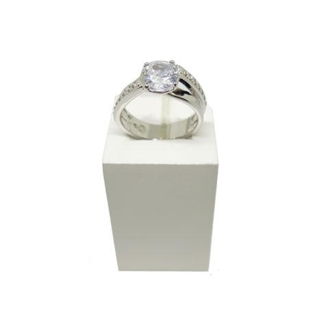 R1910172 anel solitario noivado com caixinha de veludo brilho folheados sabrina joias