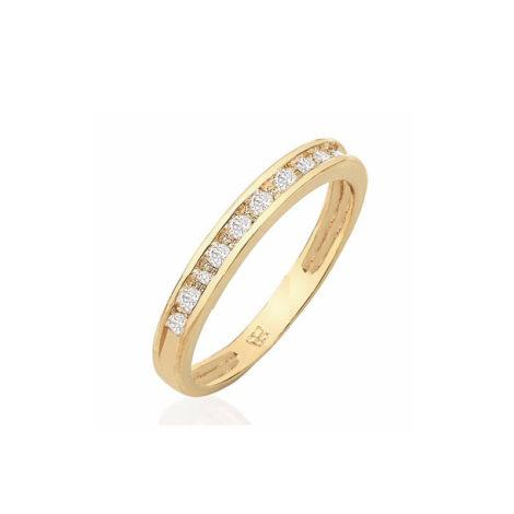 anel meia alianca 9 zirconias tamanho branca rommanel 511125 joia folheada rommanel brilho folheados