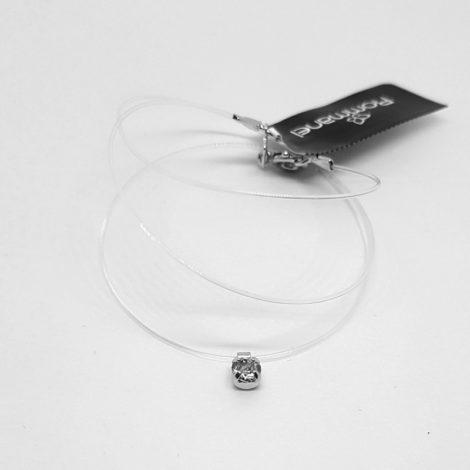 130160 colar invisivel com pontinho de luz brilho folheados rommanel
