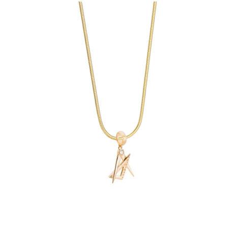 1800547 243e45 colar feminino com pingente arquitetura com zirconia branca joia folheada ouro dourado 18k sabrina joias brilho folheados