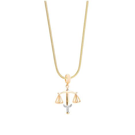 243e45 1800599 colar feminino com pingente profissao direito com zirconias joia folheada ouro dourado 18k sabrina joias brilho folheados