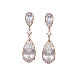 BB2655 brinco gotas de cristais brilhantes marca bruna semijoias loja brilho folheados