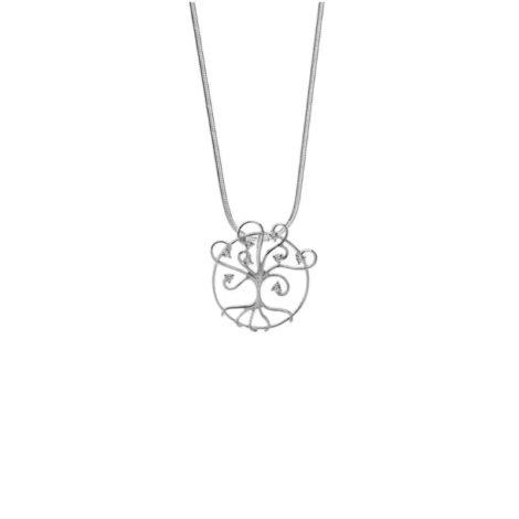 R1800596 243e45 colar arvore da vida pingente vazado com zirconias folheado rodio sabrina joias brilho folheados