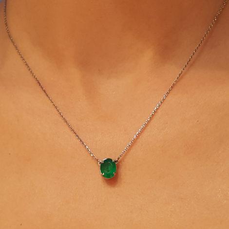 R1900359 colar 2 em 1 lado pingente cristal verde joia folheada em rodio negro sabrina joias brilho folheados