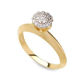 1910893 anel chuveiro solitario medio cravejado zirconias brancas joia folheada ouro 18k
