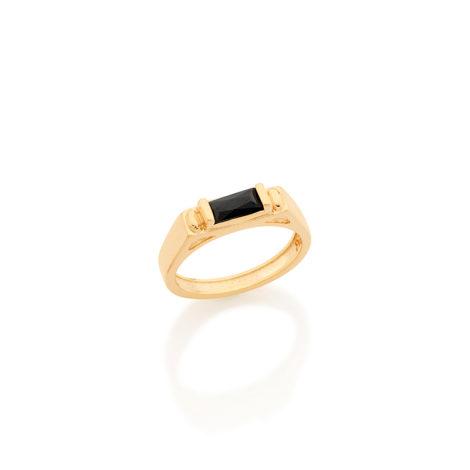 512485 anel formatura infantil menino pedra zirconia baguete cor preta joia folheada rommanel brilho folheados kids collection