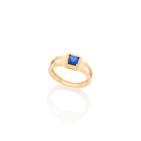 512486 anel formatura infantil menino pedra azul joia rommanel brilho folheados kids collection