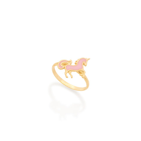512488 anel unicornio rosa joia da colecao kids collection rommanel brilho folheados